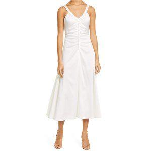 Rejina Pyo NEW Hammered 100% Silk Toni Midi Dress